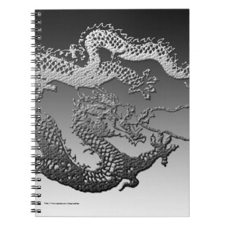 Chrome Paint Dragon Notebook