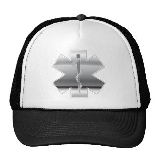 Chrome Paramedic Symbol First Aid Trucker Hat