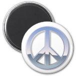 Chrome Peace Sign Fridge Magnet