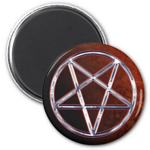 Chrome Pentagram Fridge Magnet