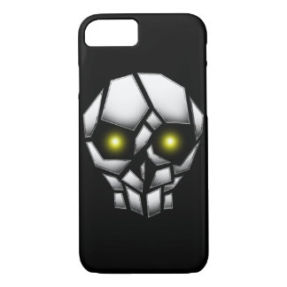 Chrome Plated Skull with Glowing Eyes iPhone 8/7 Case