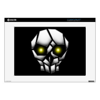 Chrome Plated Skull with Glowing Eyes Laptop Skin