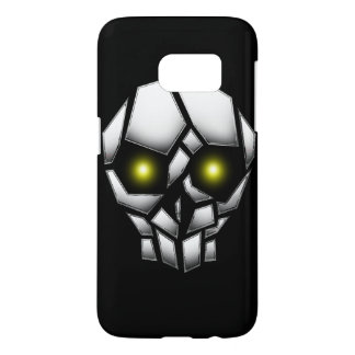 Chrome Plated Skull with Glowing Eyes Samsung Galaxy S7 Case