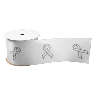 Chrome Print Belted White Ribbon Awareness