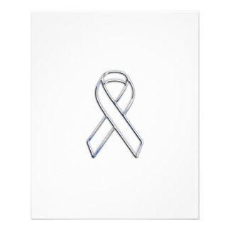 Chrome Print Belted White Ribbon Awareness Flyer