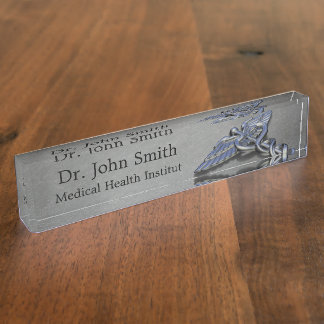 Chrome Professional Medical Caduceus - Nameplate