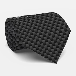 Chrome Racing Flags on Carbon Fiber style Tie