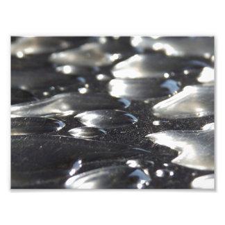 Chrome Raindrops Photo Print