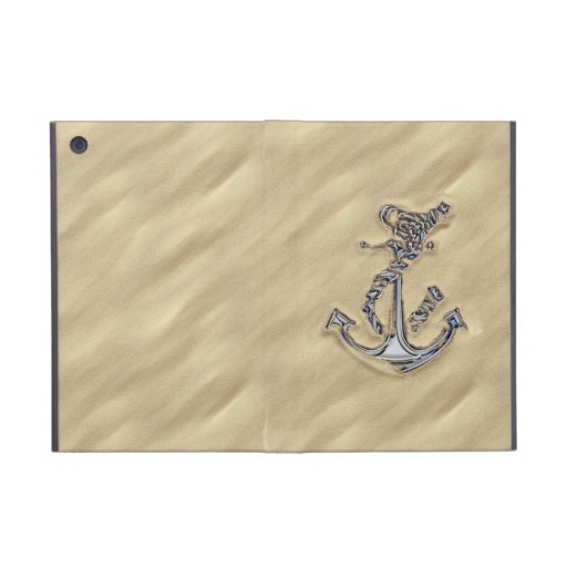 Chrome Rope Anchor in the Sand Cases For iPad Mini