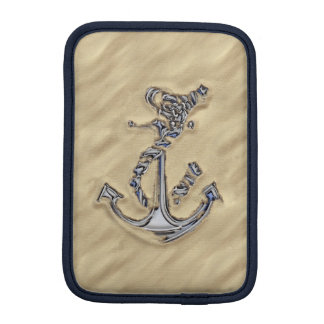 Chrome Rope Anchor in the Sand Sleeve For iPad Mini