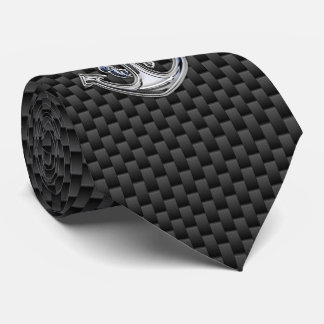 Chrome Rope Anchor on Carbon Fiber style  print Neck Tie