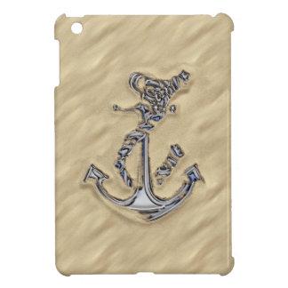 Chrome Rope Anchor on the Beach iPad Mini Case