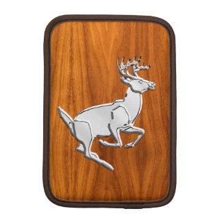 Chrome Running Deer on Fine Teak Print iPad Mini Sleeve