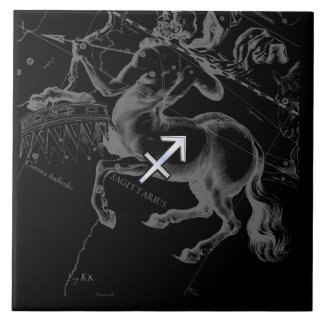 Chrome Sagittarius Zodiac Sign Hevelius circa 1690 Ceramic Tile