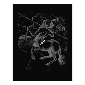 Chrome Sagittarius Zodiac Sign Hevelius circa 1690 Letterhead