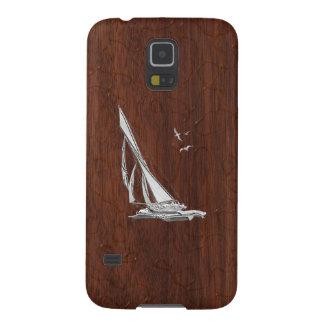 Chrome Sailboat onWet Mahogany Print Galaxy S5 Case