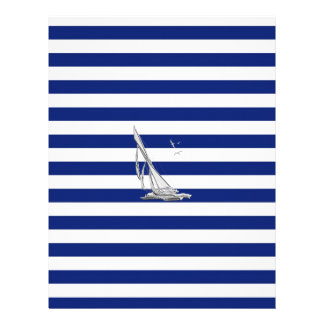 Chrome Sailing on Nautical Stripes Letterhead