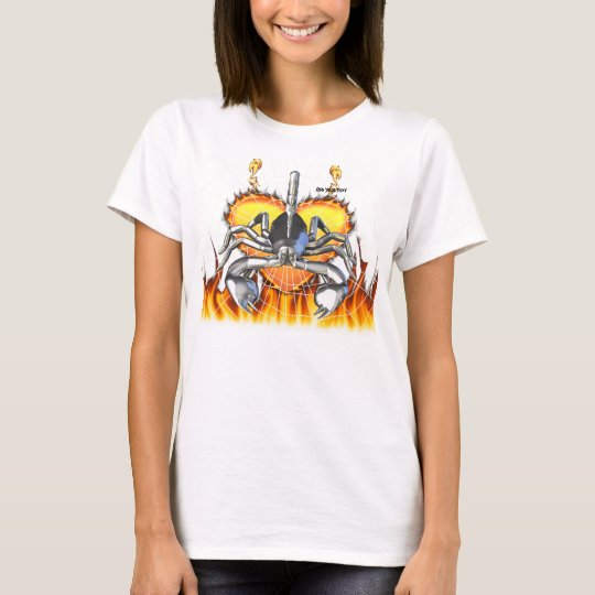 Chrome scorpion design 3 with fire and web T-Shirt