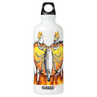 Chrome scorpion design 4 with fire and web SIGG traveler 0.6L water bottle