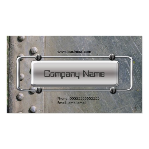 Chrome Silver Grey Metal Company Image Business Cards