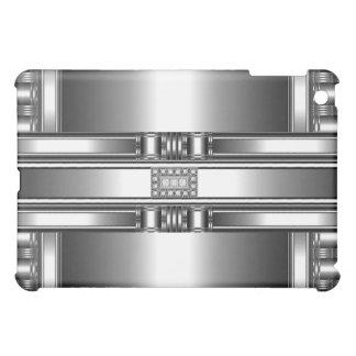 Chrome Silver Pern Diamond jewel Metal Cover For The iPad Mini