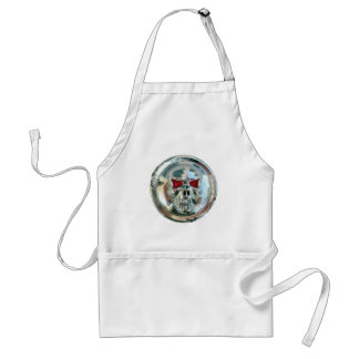 CHROME SKULL ADULT APRON