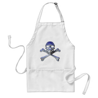 Chrome skull and crossbones adult apron