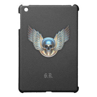 Chrome skull and Wings  iPad Mini Case