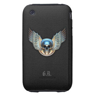 Chrome skull and Wings iPhone 3G/3GS Case
