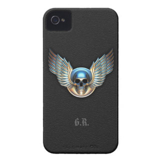 Chrome skull and Wings iPhone 4/4s Case