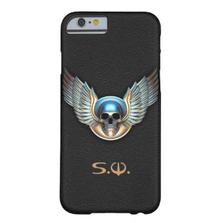 Chrome skull and Wings iPhone 6 Case