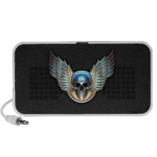 Chrome skull and Wings Speaker