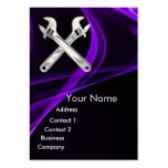 CHROME SKULL AND WRENCHES METAL MECHANICS pearl Business Cards