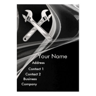 CHROME SKULL AND WRENCHES METAL MECHANICS pearl Large Business Cards (Pack Of 100)