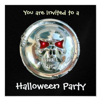CHROME SKULL HALLOWEEN PARTY Ice Metallic Card