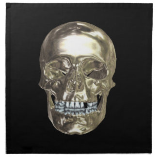 Chrome Skull Napkins