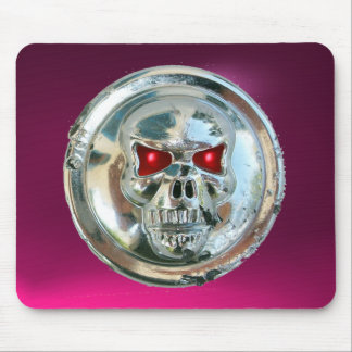 CHROME SKULL , Pink Amethyst Mouse Pad