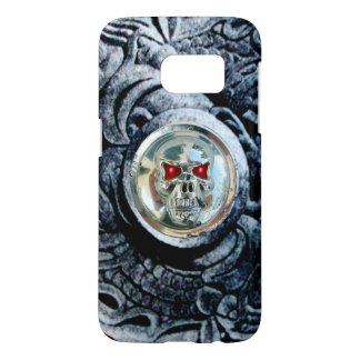 CHROME SKULL WITH FANTASY GRIFFINS SAMSUNG GALAXY S7 CASE