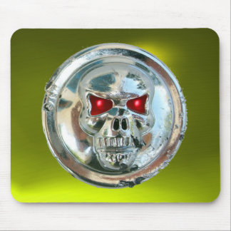 CHROME SKULL , Yellow Topaz Mouse Pad