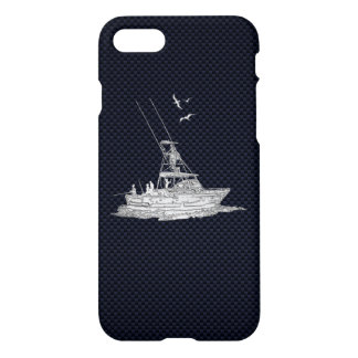 Chrome Sports Fishing on Carbon Fiber iPhone 8/7 Case