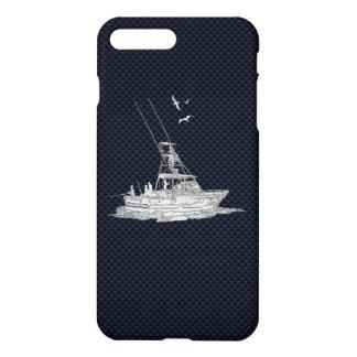 Chrome Sports Fishing on Carbon Fiber iPhone 8 Plus/7 Plus Case