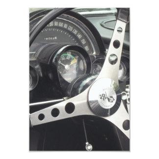 Chrome Steering wheel and black gages corvette Card