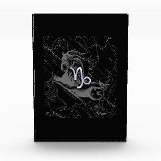 Chrome Style Capricorn Zodiac Sign on Hevelius Acrylic Award