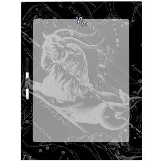 Chrome Style Capricorn Zodiac Sign on Hevelius Dry-Erase Board