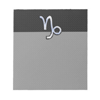 Chrome Style Capricorn Zodiac Sign on Snake style Notepad
