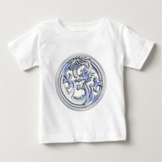 Chrome style Dragon badge on Carbon Fiber Print Tshirts