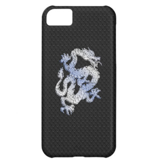 Chrome Style Dragon Black Snake Skin Print Case For iPhone 5C