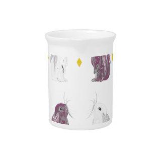 Chrome style rabbit pattern beverage pitcher