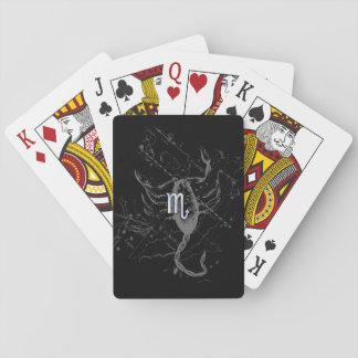 Chrome Style Scorpio Zodiac Symbol on Hevelius Poker Deck