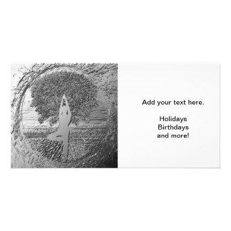 Chrome Tree of Life Yoga Card